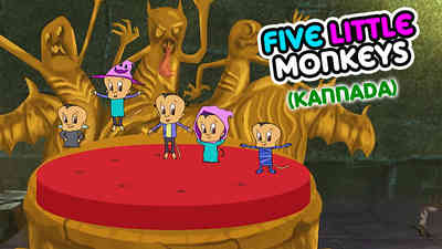 5 Little Monkeys -  Halloween - Kannada