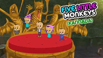 5 Little Monkeys -  Halloween - Kannada