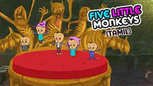 5 Little Monkeys - Halloween - Tamil