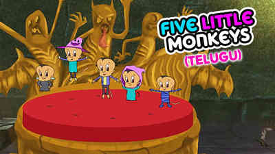 5 Little Monkeys - Halloween - Telugu