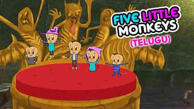 5 Little Monkeys - Halloween - Telugu