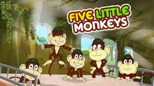 5 Little Monkeys - Samba Style - Hindi