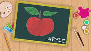 Easy Apple Drawing For Kids