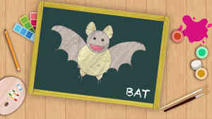 Easy Bat Drawing For Kids