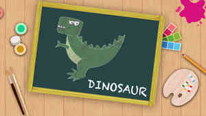 Easy Dinosaur  Drawing For Kids