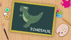Easy Dinosaur  Drawing For Kids