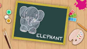 Easy Elephant Drawing For Kids
