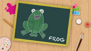 Easy Frog Drawing For Kids