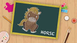 Easy Horse Drawing For Kids