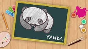 Easy Panda Drawing For Kids