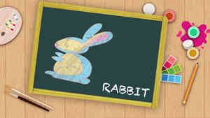 Easy Rabbit Drawing For Kids