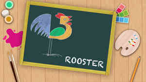 Easy Rooster Drawing For Kids
