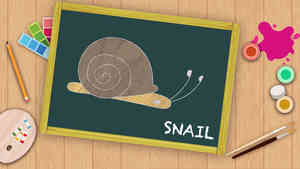 Easy Snail Drawing For Kids