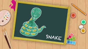 Easy Snake Drawing For Kids