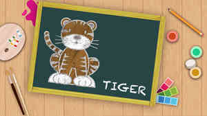Easy Tiger Drawing For Kids