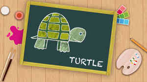 Easy Turtle Drawing For Kids
