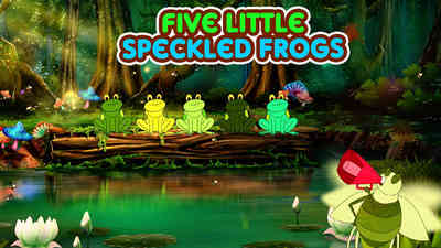 Five little Speckled frogs - Hindi