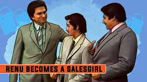 Renu Becomes A Salesgirl