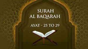 Al Baqarah : 25 - 29