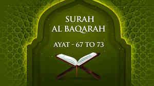Al Baqarah : 67 - 73