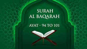 Al Baqarah : 94 - 101