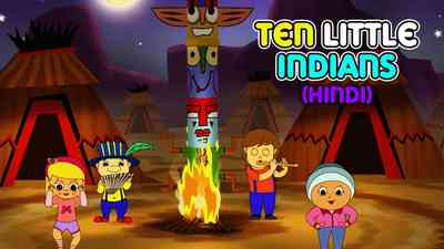 Ten Little Indians - March Style - Hindi