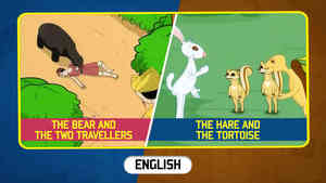 The Bear and The Two Travellers | The Hare and The Tortoise